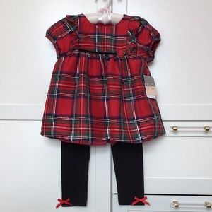 Pippa & Julie Plaid Top and Bottom Set sz 4T